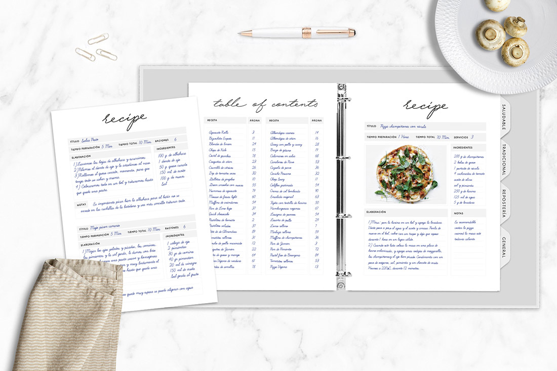 With Our DIY Recipe Binder Kit